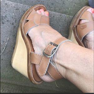 Chloe Leather Wedge